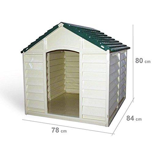 Hundehütte Hunde-Hütte Hundehaus aus Kunststoff - 2