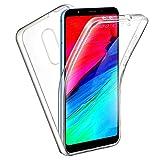 """TBOC Cover per Xiaomi Redmi 5 (5.7"""") - Custodia [Trasparente] Completa Copertura Integrale [Silicone TPU] Protezione Totale [360 Gradi] Full Body Anteriore Posteriore Sottile Case Resistente Graffi"""