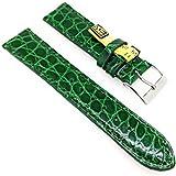 Cinturino per orologio in vero coccodrillo, 20 mm, verde