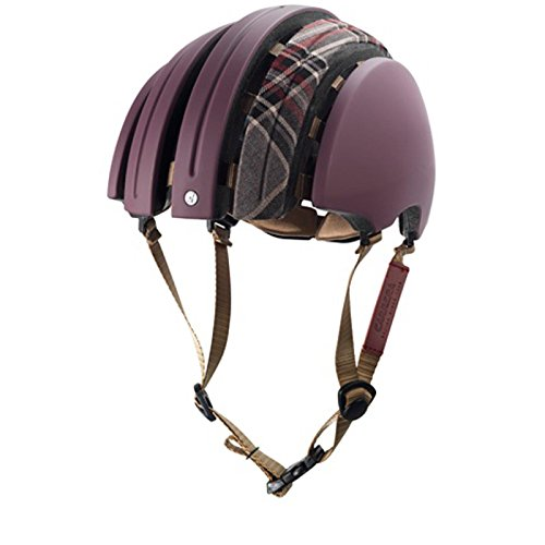 Brooks J.B. Special faltbarer Helm Rot Grau Karo, 80110, Größe L (58 - 61 cm)