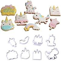 takestop® Juego de 2 Piezas moldes moldes sugarbelle Formas Mixtas Unicornio Nube Redondo Perro Botella