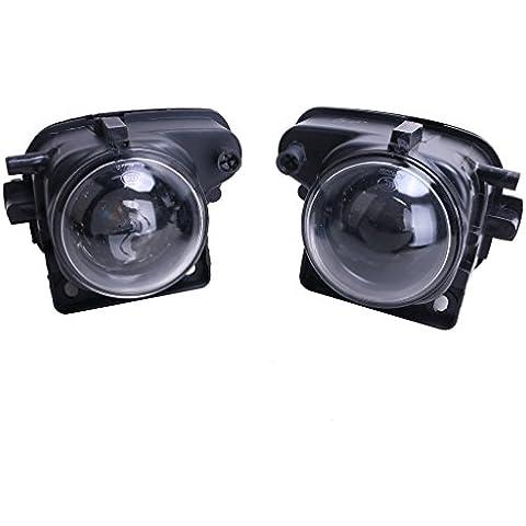 SENGEAR - Faros Antinieblas Luces Delanteras con lámparas para Audi 1998-2001 A6 C5 2.7L 2.8L(incluye Bobillas H3)