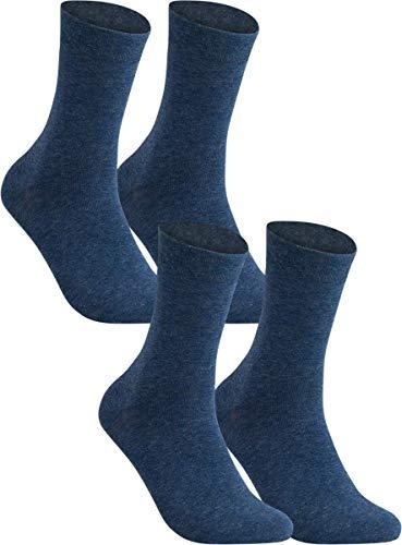 Vitasox 31123 Herren Socken Extra weit Gesundheitssocken Sensibel ohne Gummi 4er Pack Marine 39/42