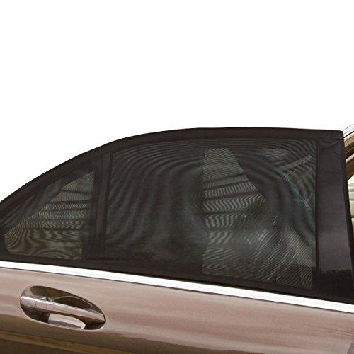 QUMAO 2 Unidades Parasol Cortinilla de Coche 114 * 52 cm Quitasol para Ventanas de Coche - Resistencia a los Rayos UV y la Reflexión de Luz de Sol