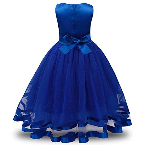 chen Prinzessin Brautjungfer Pageant Tutu Tüll Kleid Party Hochzeitskleid (dunkel blau, 160) (Cinderella Halloween-kostüm-muster)