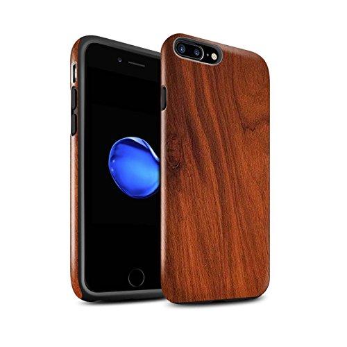 STUFF4 Glanz Harten Stoßfest Hülle / Case für Apple iPhone SE / Treibholz Muster / Holz/Holzmaserung Muster Kollektion Mahagoni
