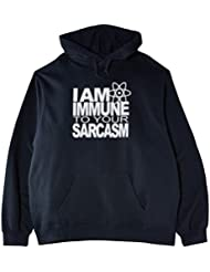Touchlines Herren  Kapuzen Pullover I Am Immune To Your Sarcasm
