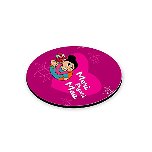 LOF Gifts For Meri Pyari Maa Gifts For Mother's Day Graphics Printed Round Coaster  available at amazon for Rs.199