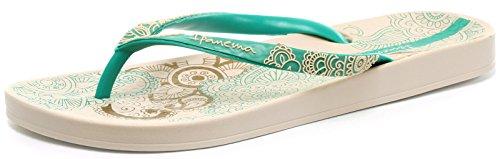 Ipanema - lovely III, Sandali da donna, beige (beige/green), 39