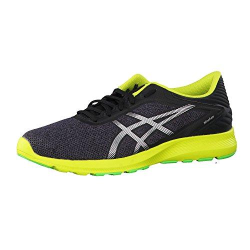 Asics nitrofuze Shoes Men Dark Grey/Silver/Neon Lime 2017Scarpe da corsa, Grau, EU 42,5 (US 9)