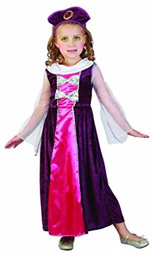 Princess Regal Kostüm - Glossy Look Girls Children Regal Princess Fancy Dress World Book Day Costume 2-4 YRS Toddler (Toddler 2-4 Years)