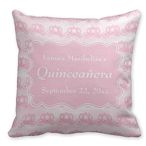 Kronial Couvre-lit Taie d'oreiller couvertures Rose pastel wagons Quinceanera décoratifs Housses de coussin