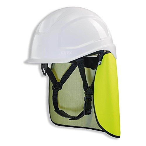 UVEX Schutzhelm pheos S-KR IES - Arbeitsschutz-Helm mit Nackenschutz - Set mit BG Bau Förderung - EN 397, Farbe:weiß