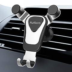Idea Regalo - Autkors Supporto Auto Smartphone, Supporto per Cellulare Auto Ventilazione Supporto Porta Telefono Auto Universale per iPhone 11 PRO / 11 / XS/XR/X, Samsung S10 / S9, Huawei P20/P10