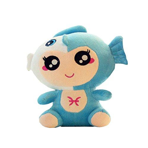 öne Zodiac Pillow Soft Fische Puppe Kinder Blau ()