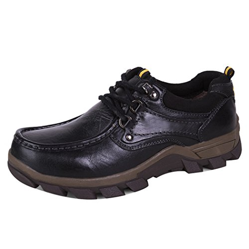 WALK-LEADER, Scarpe stringate uomo, Nero (Black), 44