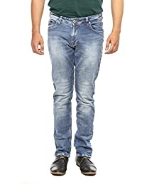Spykar Mens Light Blue Narrow Fit Low Rise Jeans (Rover) - B06WGPYRLN