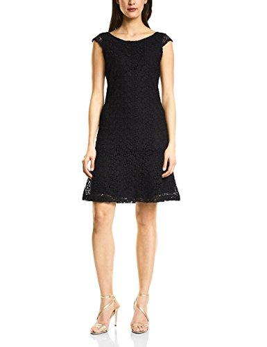 Street One Damen Partykleid 140593, Schwarz (Black 10001), 34