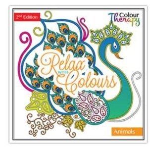 Erwachsene Färbung Farbe Bücher Calm Therapie 30 Perforiert Seiten 60 Designs - Tieren