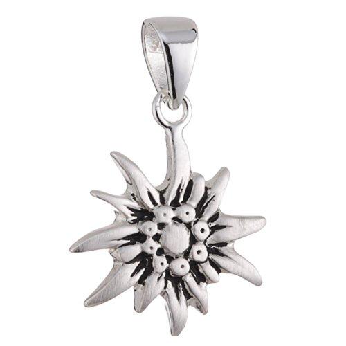 edelweiss anhaenger Vinani Anhänger Edelweiß mattiert oxidiert Sterling Silber 925 AEW-EZ