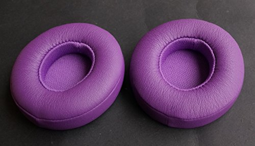 Memory Foam Ohr Pads - Protein - ersatzteile Ohr Polster für Beats Solo - 2.0/3.0 / Kabel am Ohr - drahtlose kopfhörer (1 Paar) rosa/edel lila Decken ohrschalten Ohr tassen (edles lila) (Solo-2 Kabel Rosa)