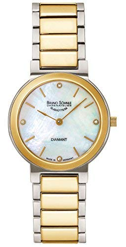 Bruno Söhnle Damen Analog Quarz Uhr mit Edelstahl Armband 17-23108-992