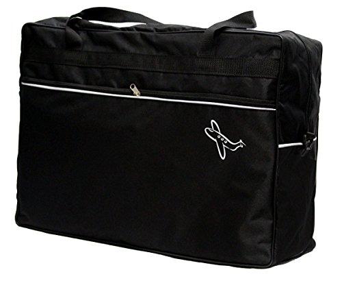 Reisetasche 40 x 20 x 25 cm Boardgepäck Bordcase Reise Koffer HANDGEPÄCK (Schwarz)