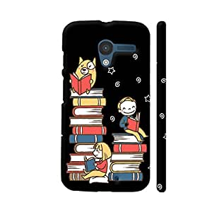 Colorpur Moto X1 Cover - Book Family On Black Case