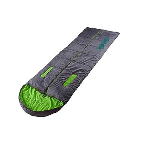 Nola Sang Sac de couchage en plein air chaud portatif pour le camping à la main extraction ultra-léger 4 saison sacs de couchage simple puces humide-Proof , green