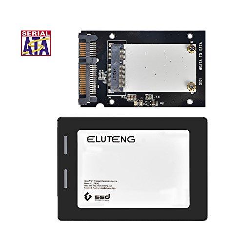 ELUTENG mSATA auf SATA für 30x50mm m-SATA SSD Festplatten mSATA auf 2,5 Zoll SATA Adapter 6Gbps mini SATA Converter Case 2.5 für Notebook / Laptop / Desktop-PC (Sata 8 Motherboard)