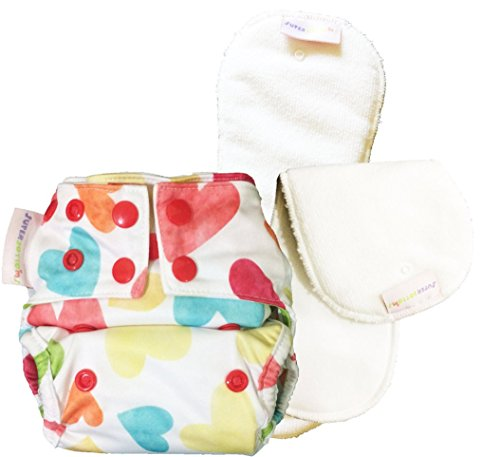 NEW Superbottoms New Born Cloth Diaper with 2 Dry Feel (Stay dry) soakers (Baby Hearts)