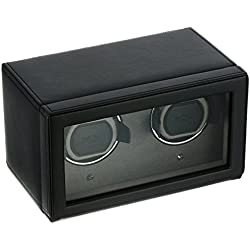 Wolf Designs Cub Double Watch Winder with Cover Black