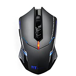 VicTsing Gaming Maus, 2,4 GHz Funkmaus mit leise Klicken, 2400 DPI Computermaus, 7 Tasten usb maus,ergonomische Maus, lange Lebensdauer Wireless Mouse für PC Laptop iMac Mac Book, Office, Home