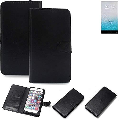 K-S-Trade 360° Wallet Case Handyhülle Ulefone F1 Schutz Hülle Smartphone Flip Cover Flipstyle Tasche Schutzhülle Flipcover Slim Bumper schwarz, 1x