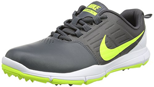 Nike Explorer Lea, Scarpe da Golf Uomo, Grigio (Dark Grey/Volt/White), 41 EU