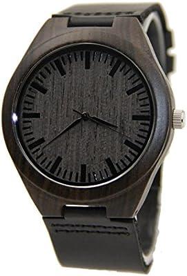 Lacaca–Reloj de pulsera de cuarzo japonés, de madera de bambú natural, reloj para mujeres/hombres (Estilo F)
