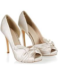 Monsoon Chaussures ouvertes au bout ornées d'un nœud en satin Daphné - Femme