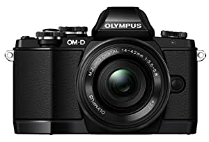 Olympus OM-D E-M10 Systemkamera (16 Megapixel, Live MOS Sensor, True Pic VII Prozessor, 3-Achsen VCM Bildstabilisator, Sucher, Full-HD, HDR) Kit inkl. 14-42mm Objektiv (elektr. Zoom) schwarz