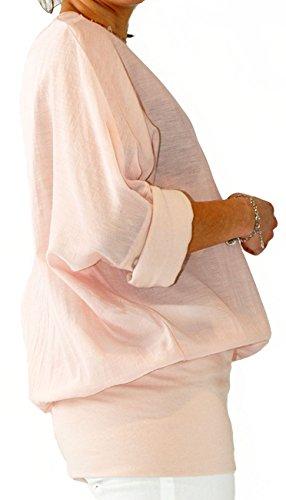 D-ROSS T-Shirt Manches Longues Femme Rose