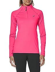 Asics Damen Long Sleeve 1/2 Zip Langarmshirt, Grau