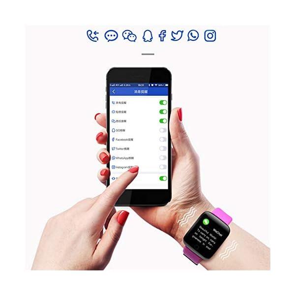 Reloj Smart Fitness Tracker, Reloj Inteligente a Prueba de Agua IP67 con Monitor de sueño con Contador de Pasos, Reloj… 8