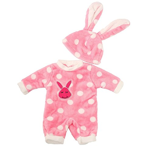 LCLrute Hot American Dolls Bunny Overall Cap Pyjama Kleidung für 18 Zoll unsere Generation American Girl Puppe Kleidung ACCS (Rosa)