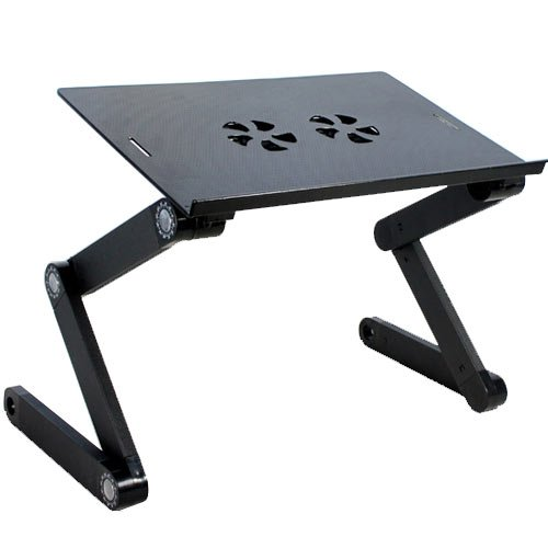 Laptop Foldable adjustable height ZigZag Table with cooling fan