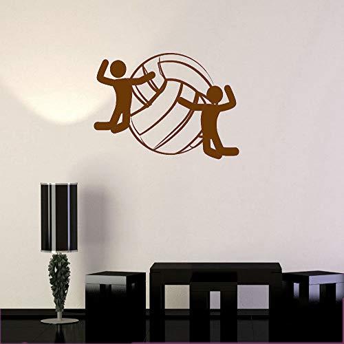 zqyjhkou Decalcomanie da Muro in Vinile Rimovibili Semplice Palla da pallavolo Sport Player Fan Adesivi Art Mural Decorazione Domestica per Bambini 7 62x42cm