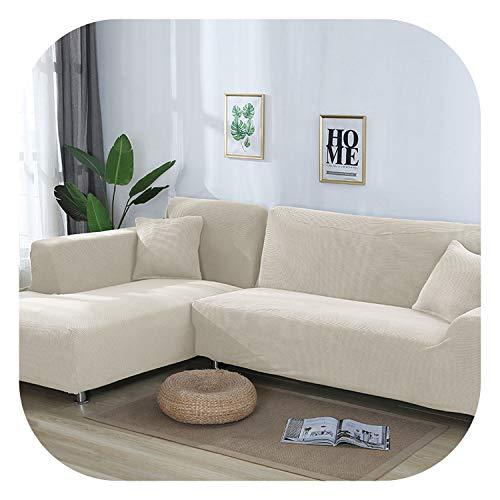Happy Towns Sofahusse, L-Form, 2 Stück, Stretch, für L-förmige Couch, weiß, 235-300cm 235-300cm
