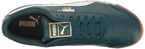 Puma Roma Basic Gold Leder Turnschuhe Deep Teal-Puma White