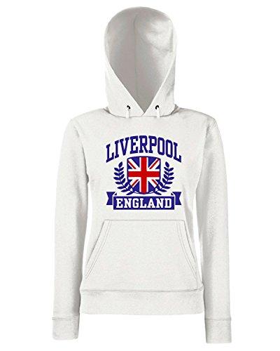 T-Shirtshock - Sweats a capuche Femme TSTEM0053 liverpool england organic mens Blanc