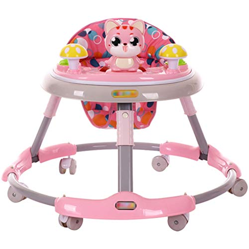 LiRuShop Lauflernhilfen Entdecken & Bewegen Entwicklungs Walker Activity Walker Walker Baby-Walker Anti-Roll-Multifunktions-Kinder Push können 6/7-18 Monate sitzen (Color : Pink, Size : 70 * 70cm)