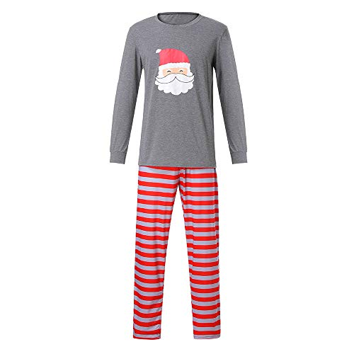 (Challeng Weihnachtspyjamas Familie Passende PJS Sets für die Familie Santa Nachtwäsche Nachtwäsche, Vater Mutter Kinder Nachtwäsche Kleinkind Babyspielanzug für Weihnachten)