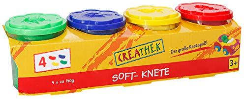 Toy creathek knete Lot de 4 Couleurs de Base 560 g